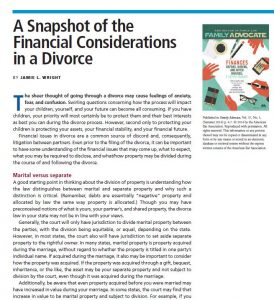 Divorce and Financial Considerations