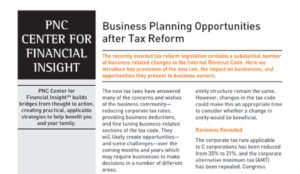 Business Planning Opportunities after Tax Reform